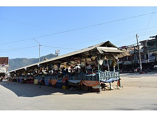 Malekhu Bazar on way to Pokhara, popular for local fish and lentils