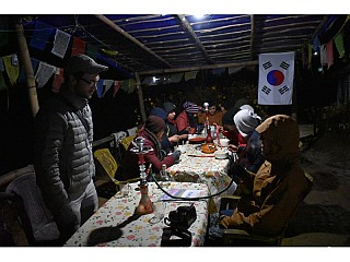 Strangely, this is a place in Nepal, known as Australian Camp and offers Korean food (Bibimbap)
