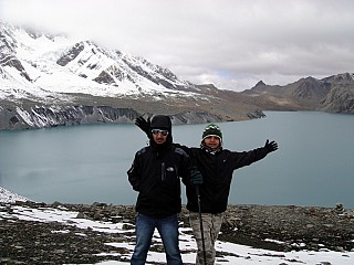Additional Day 2 | And Finally the joy part. After the steep climb the quiet Tilicho Lake is a pleasing sight.