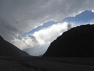 Amazing Cloud during Hiking from Muktinath