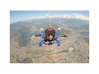 Amazing view of Pokhara Skydive