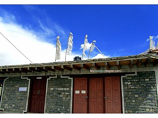 Blue Sky at Jomsom