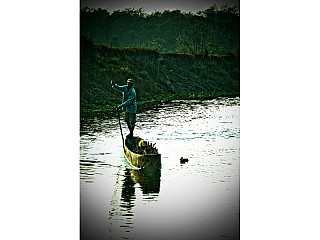 Boating at chitwan