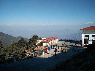 Cable Car station with Langtang view