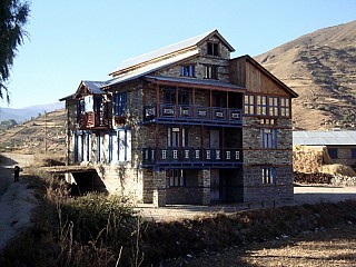 Day 8 | As we approach Jumla, the settlements increases. Most of the houses employ earthquake resistant techniques.