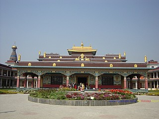 Different monastries in Lumbini built by Buddhist communities from across the world.