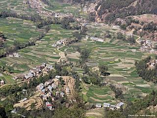 Farming terrace as seen from Lakhuri Bhanjhyang