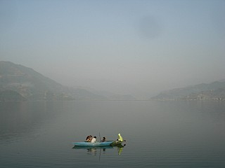 Fewa Lake Morning view from Pokhara