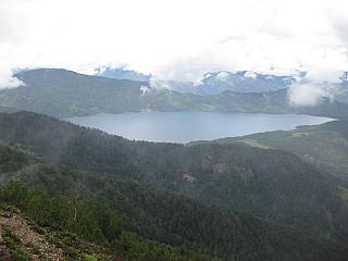 First view of Rara Lake