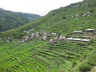 Local settlement @ Mahabepather Khola