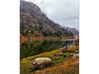Man made lake at Markhu