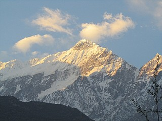 Manaslu Himal early in the morning from Jomsom