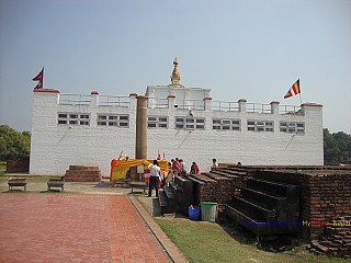 Mayadevi Temple with the Ashoka Pillar dated 245BC