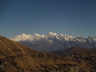 Mountains seen from Kalinchowk