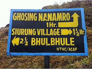 On the way from Siurung village to Bhulbhule