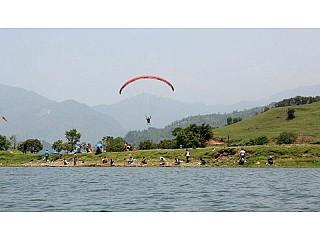 Paragliding in Pokhara Fewa Lake Nepal
