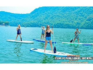 Phewa Lake and SUP in Nepal