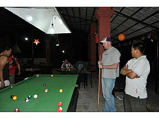Pool table at Sukute Beach