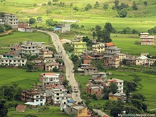 Road from kathmandu to Tau Daha leading to Dakshinkali