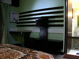 Room with LCD TV