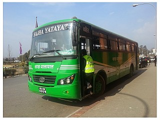 Sajha Yatayat Bus at Airport
