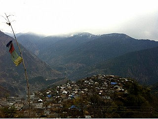 Siurung village viewed from a gumba