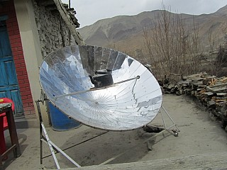 Solar Heater around Himalays
