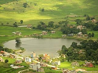 Taudaha viewed on the way to Champa Devi