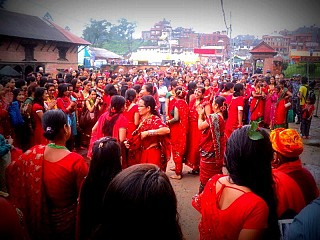 Teej at Pashupatinath