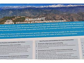 Tourist Information board at Chisapani