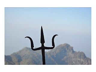 Trishul at Kalinchowk Temple