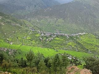 View of Gamgadi Bazaar on way to Talcha Airport