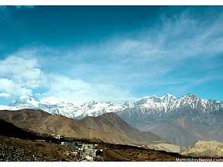 View of Mountain Range from Muktinath