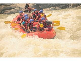 here we go Rapid at Nepal river