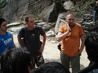 some Foreign friends on the way to Jomsom