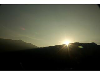 sun rise from ghandruk