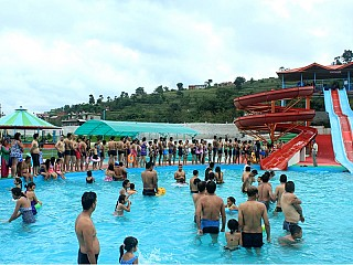 Queue for Slides at Kathmandu Fun Valley