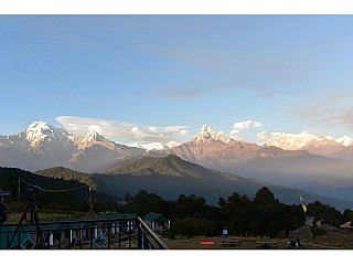 Annapurna Range in the evening