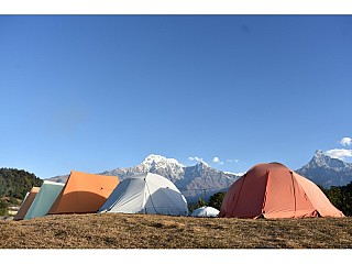 The tents on the Camp