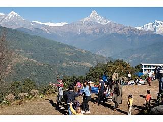 People enjoying picnic at Dhampus