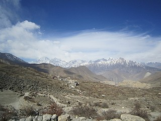 Amazing Himalayan Range seen from Muktinath