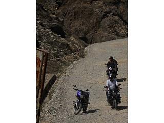 Bikers on Kala Pathari Roadways