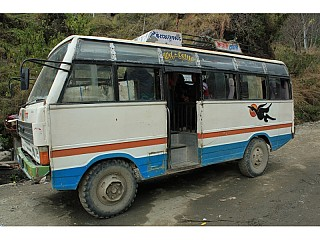 Bus that took us from Bhulbhule to Besi Sahar