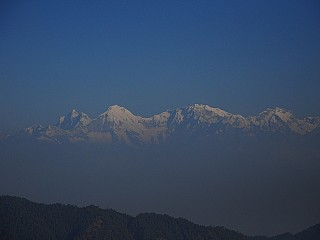 Closer view of Mountain Range from Daman Nepal