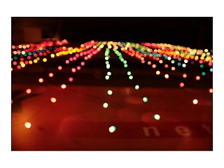 Colorful lights at home during Tihar