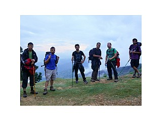 Day 3 | The team. Even at the start of the trek we were already at a very high elevation