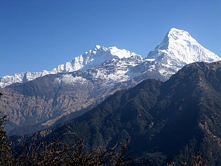 Day 3 - Annapurna range visible on the way back