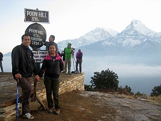 Day 3 | Start early as possible to get a good view from Poon hill before the clouds rise