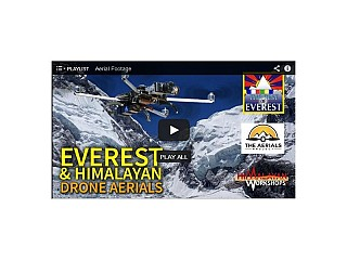 Everest Region captured from Drone.