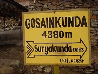 Gosaikunda 4380 meters